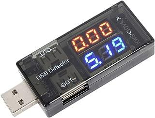 Goshang USB電流電圧テスター 電圧と電流チェッカー 電源メーター電圧モニター 便利 小型 持ち歩き 3V-8V/0A-3A対応