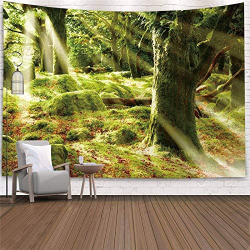N / A Scenery Tapestry Beautiful Natural Forest Printed Wall Hanging Fabric Bedspread Beach Towel Home Decor A6 200x150cm