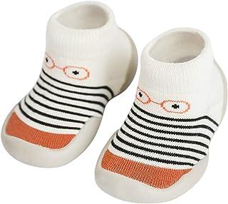 Niños Zapatos de Primeros Pasos Antideslizante Bebé Zapatos de Casa Diarios Suave Elástico Calcetines-Zapatos Zapatillas S...
