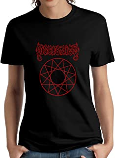 Wulanala Women's Extreme Metal Band Dissection Black Horizons Short Sleeves T-Shirt