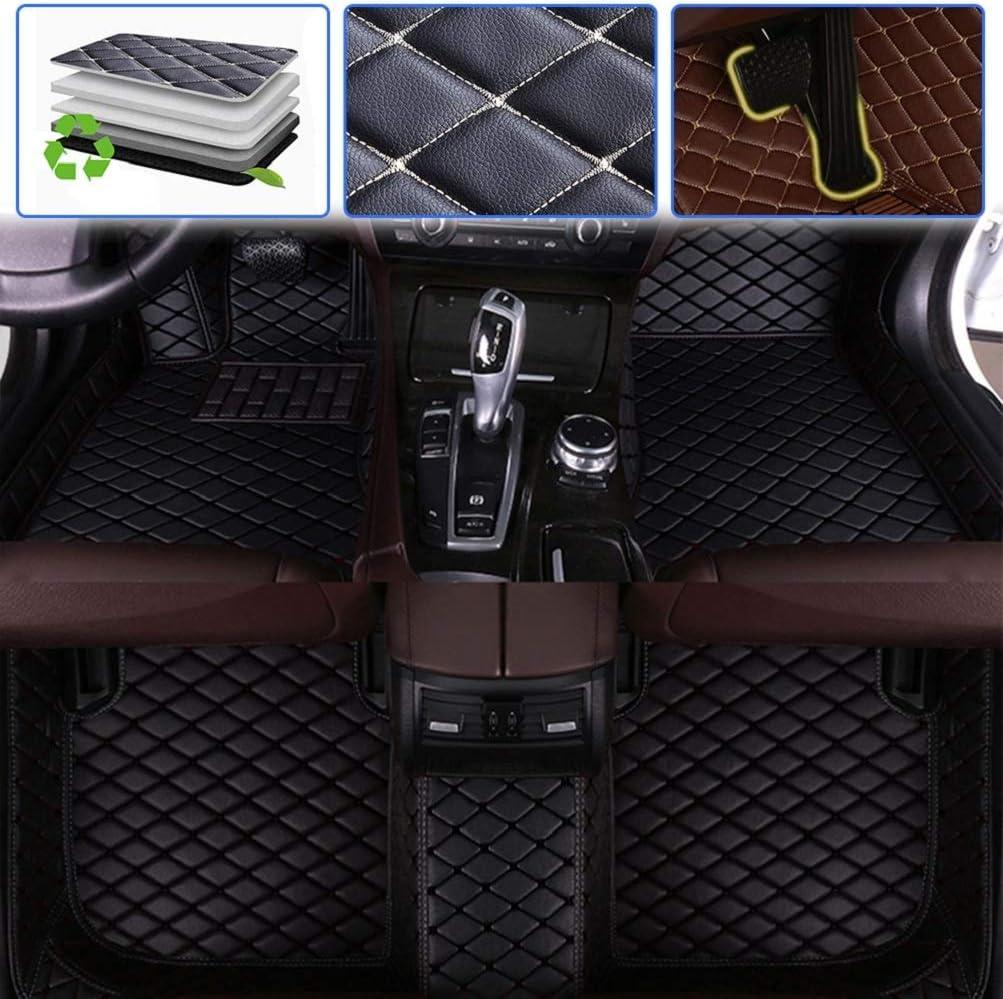 Beige Custom Car Floor Mats for VW Volkswagen Passat B5 2003-2007 Luxury Leather Waterproof Anti-Skid Full Coverage Liner Front & Rear Mat//Set
