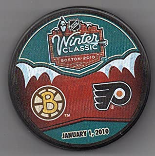 2010 Winter Classic Boston Bruins Philadelphia Flyers Fenway Park NHL Hockey Puck + FREE Cube
