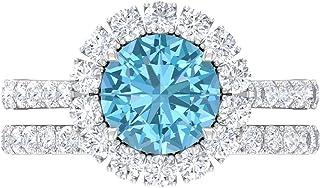 Anillo de compromiso solitario de 8 mm, anillo de compromiso de moissanita, oro blanco de 14 quilates.