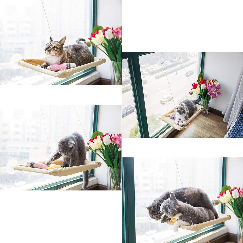 Cat Window Perch Cat Window Bed Cat Hammock Window Suction Cup Hanging Nest Summer Pets Cat Climbing Frame Sunbathing + Daydreaming 55×35CM Can Bear 20KG