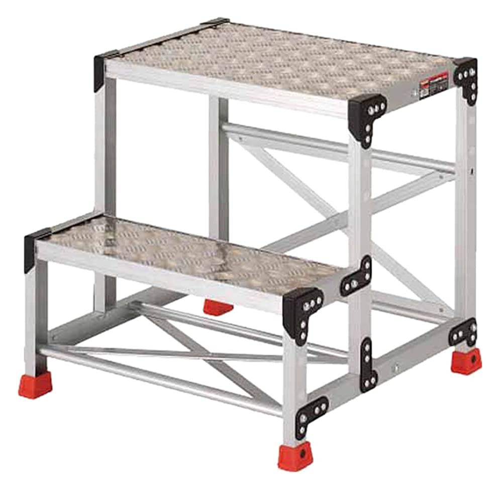 リンクリフト治療TRUSCO(トラスコ) 作業用踏台 アルミ製?縞板タイプ 天板寸法600X400XH600 TSFC266