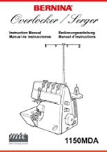 Bernina Overlocker Serger 1150MDA Sewing Machine COLOR COPY Reprint Of User's Guide Owners Manual Instructions Comb Bound