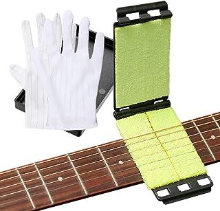 HONGECB Nettoyeur de Cordes pour Guitare, Manche de Guitare Outils de Nettoyage et Entretien, Nettoyeur pour Instruments à...
