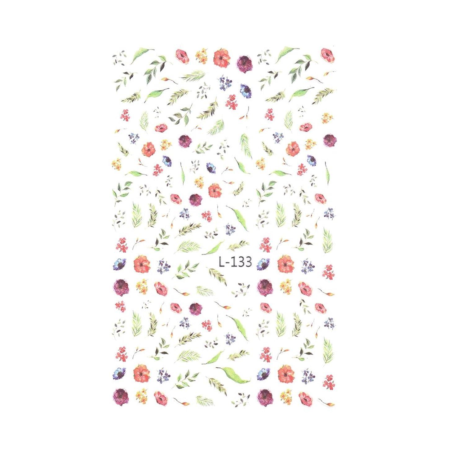 特別なブルゴーニュトリプル【L-133】ヴィンテージボタニカルシール 花 フラワー ネイルシール