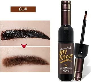 Shouhengda Tattoo Eyebrow Gel Peel Off Natural Eyebrow Long-Lasting Waterproof Tint Dye Cream (A1-Dark Brown)