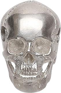 Forobb Skull Bead Charm Pendant for Necklace Bracelet 925 Sterling Silver Handcrafted Gothic Rock Punk Diablo Biker Retro ...