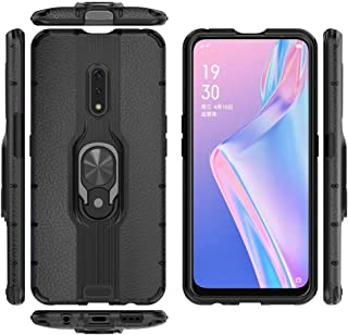 Case for Oppo K3 DWaybox Ring Holder TPU Gel Soft Design 2 in 1 Hybrid Heavy Duty Armor Hard Back Case Cover Compatible with Oppo K3/Realme X 6.53 Inch (Black)