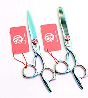Professionele haar snijden 6,0 Inch Barber Schaar Uitdunnen Shears High-End 9CR Steel Set kappers Stylist Salon Haircut Ki...