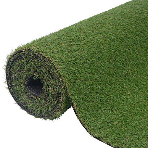 Festnight Kunstrasen Rasenteppich für Garten Balkon Polhöhe 20-25 mm Grün Größe Optional