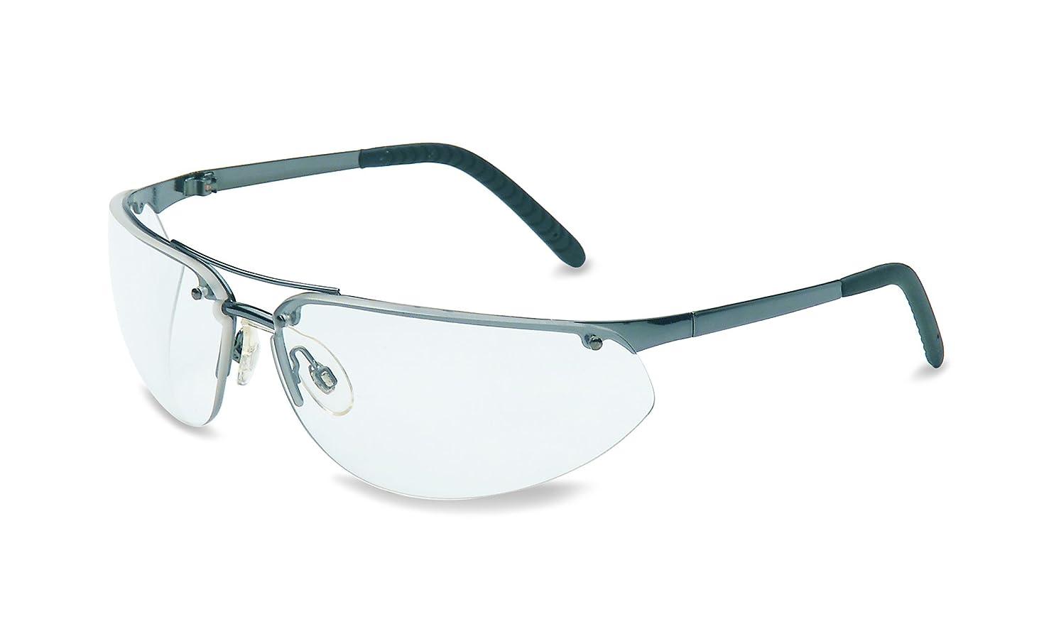 UVEX by Honeywell 11150805 Fuse Safety Eyewear Gunmetal Frame, Clear Lens with Fog-Ban Anti-Fog Coating