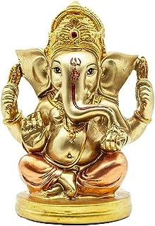 BangBangDa Hindu Lord Ganesha Statue Idol - Indian Murti God Elephant Decor - India Figurines Pooja Mandir Items