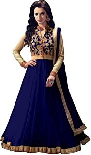 HomeDeal Women's Net Semi-stitched Salwar Suit