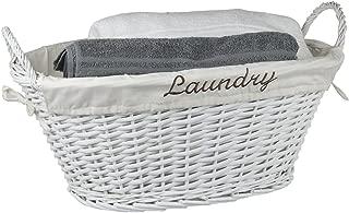 Best laundry wicker basket white Reviews