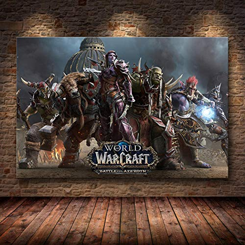 KELDOG Puzzle Jigsaw, Game Puzzles Jigsaws - World of Warcraft Picture, Adult Puzzles Jigsaws, 1000 Piezas de Madera para niños, Rompecabezas de Entretenimiento