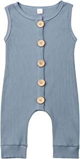 Kuriozud Newborn Unisex Baby Boy Girl Button Romper One Piece Jumpsuit Clothes