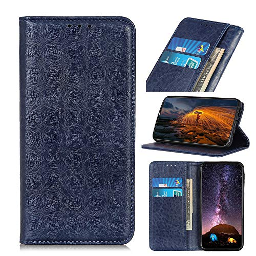 Snow Color Leather Wallet Case for Galaxy A71 5G with Stand Feature Shockproof Flip, Card Holder Case Cover for Samsung Galaxy A71 5G - COKZN020069 Blue