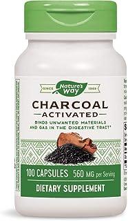 海外直送品Nature's Way Charcoal, Activated, 100 Caps 260 MG(Pack of 3)