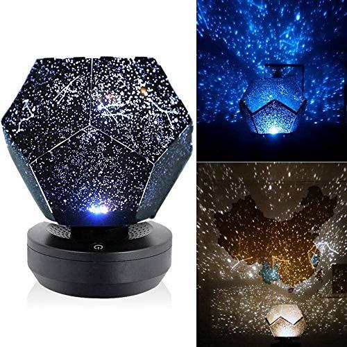 Leilims Asamblea Cielo Estrellado proyector de Estrellas luz de la Noche Estrellas de luz del proyector DIY Planetario Dormitorio de la lámpara 4 (Color : 9)