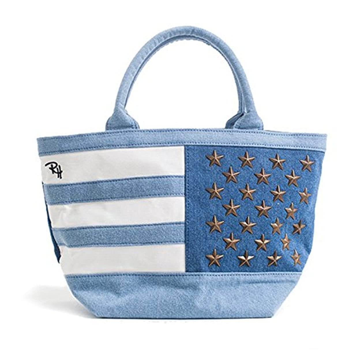 マーティフィールディング建物ワックスRon Herman ロンハーマン トートバッグ レディース Tote Bag ロゴ刺繍 50stars デニム カバン ハンドバッグ USAスタッズ 星条旗