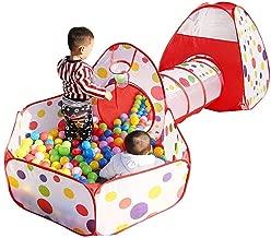 ARHA IINTERNATIONAL Jumbo Size 3-in-1 Foldable Tunnel Ball Pool Kids Play Tent House for 10 Year Old Girls and Boys