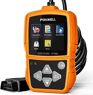 FOXWELL NT201 OBD II کد اسکنر اتوماتیک ابزار تشخیصی اسکن چک موتور اتومبیل نور کدهای خواننده OBDII OBD2 تشخیص اسکنر نارنجی