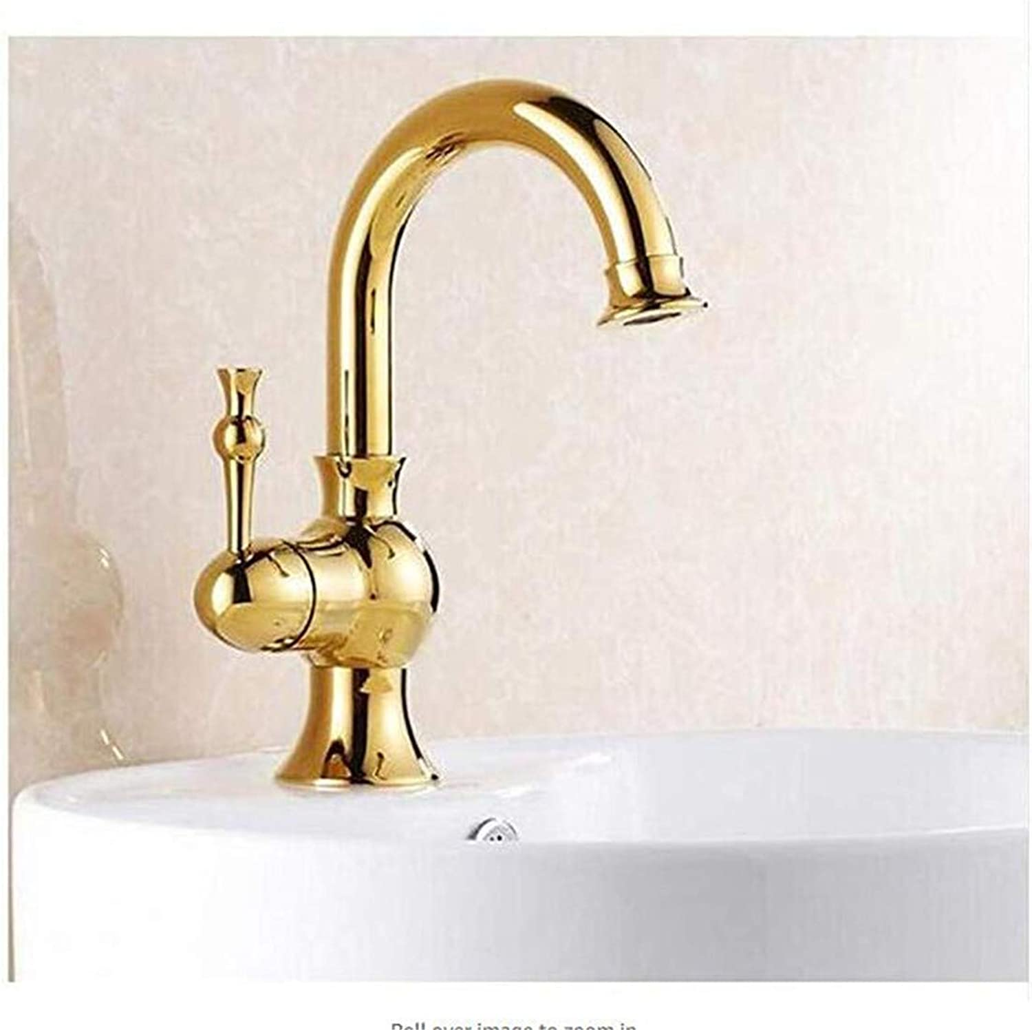Luxury Modern Hot and Cold Faucet Vintage Platingfaucet Hot and Cold Water Sink Taps Mixer Washbasin Single Handle Faucets Tap