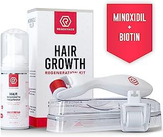 کیت رشد مو با 5٪ ماینوکسیدیل پلاس فوم و Microneedle Derma Roller 0.25mm - شامل 2 سر میکرونیدلینگ ، دسته ، سرم