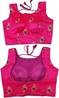 Women's Party Wear Readymade Bollywood Designer Indian Style Padded Blouse for Saree Crop Top Choli 843 Pink
