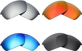 6cb5e5c9d0 MRY 4 Pares polarizadas Lentes de Repuesto para Oakley Flak Chaqueta  Sunglasses-Stealth Negro/