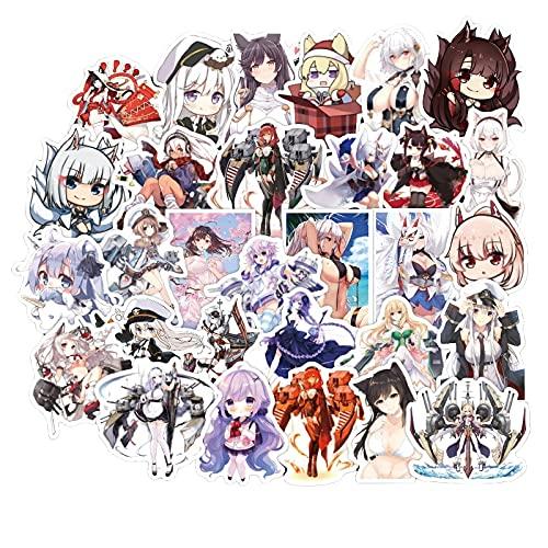 SHUYE Anime Stickers Cute Kawaii Anime Girls Sticker For Laptop Luggage Suitcase Skateboard DIY Graffiti Cars Stickers50Pcs