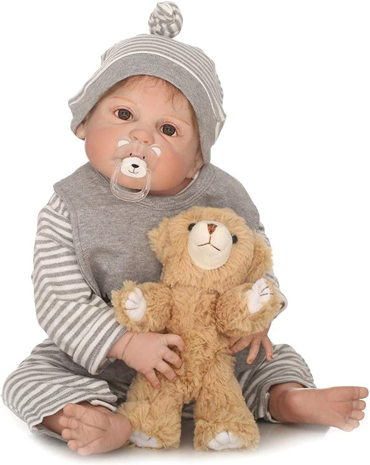 TERABITHIA 22 inch Rare Alive Cute Reborn Toddler Doll,Boy Doll Handcrafted in SiliconeLike Vinyl Full Body