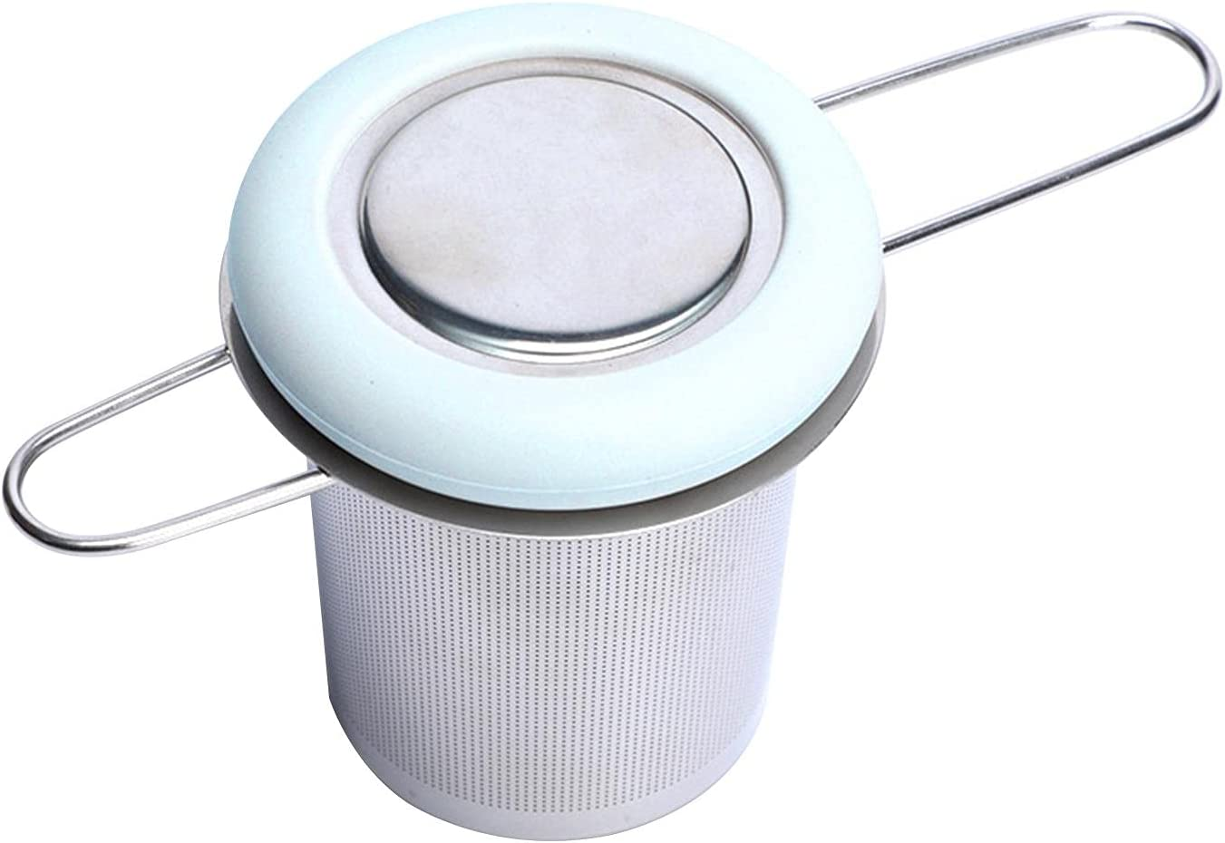 5 ☆ very popular Tea Infuser Stainless Steel Strainer L with Bombing free shipping Handle Foldable
