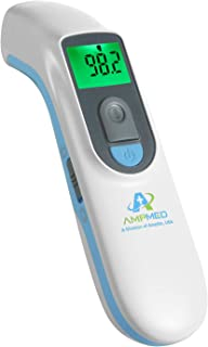 Sponsored Ad - Amplim Medical Grade Noncontact Digital Infrared Forehead Thermometer for Baby and Adult, 1701AE1, Blue White