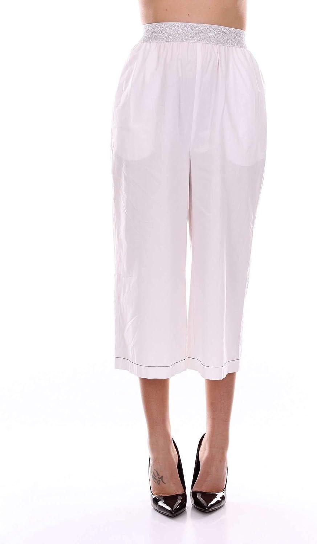 ISOLA MARRAS Women's 1M9508WHITE White Cotton Pants