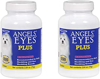 Angel's Eyes 2 Pack of Plus All Natural Anti Tear Stain Supplement Powder, 2.64 Ounces each