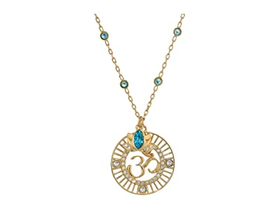 Swarovski Symbolic Lotus Pendant Necklace (Light Multi/Green) Necklace