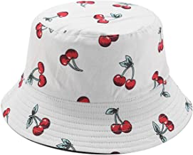 Mashiaoyi Unisex Print Double-Side-Wear Reversible Bucket Hat