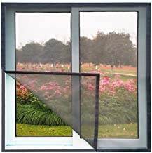 Zomer Anti Mosquito Netto Window Screen Mesh Air Tulle Stofdicht Netto Verwijderbaar Wasbaar-W 40cm x H 80cm_Blacknet Brow...