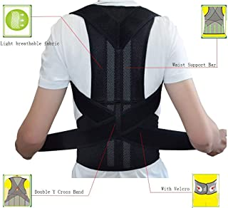 ZSZBACE Breathable Back Support and Lumbar Lower Back Brace provides Back Pain Relief - Keep Your Spine Safe and Adjustable Belt (M:waist length fits 31.4-37.4