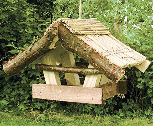 """Vogelfutterhaus mit Reetdach, """"Reiherholz"""" - 2"""