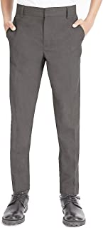 4D-Uniforms Boys Extra Sturdy Loose Fit Short Leg School Trouser Grey, L 34-36 w x 26 L