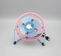 Roshow Ventilateur été USB Mini Ventilateur 4 Pouces Bureau Bureau Bureau Ventilateur en Fer forgé dortoir-Couleur, s'il V...