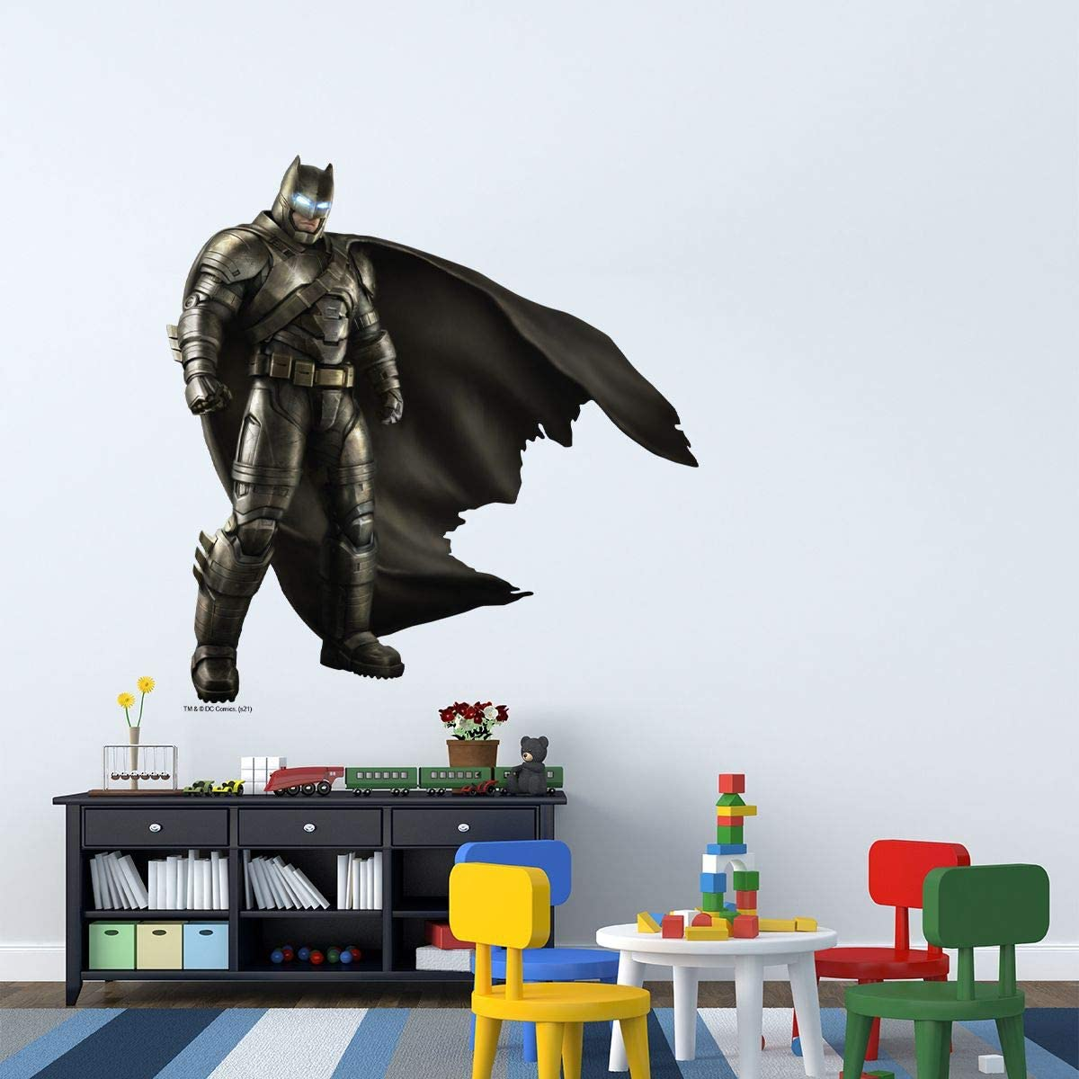 Buy Kismet Decals Armored Batman Officially Licensed Wall Sticker Easy Diy Justice League Home Kids Or Adult Bedroom Office Living Room Decor Wall Art Decal Mural Large Online In Hungary B08wpfx8h1