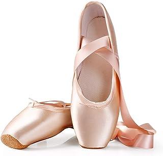 JGXRJLK Zapatos de Punta de Ballet Rosa, Zapatos de Baile Profesionales, Zapatos de Gimnasia de Yoga, Zapatos de Punta de ...
