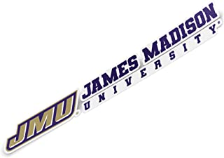 James Madison University JMU Dukes NCAA Name Logo Vinyl Decal Laptop Water Bottle Car Scrapbook (8 Inch Sticker)