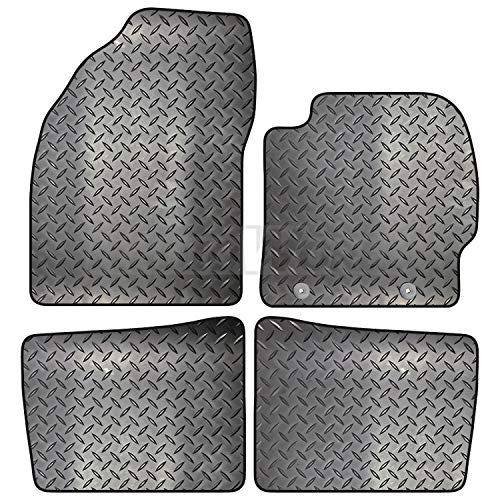 Carsio Tailored 4 Piece Rubber Car Mat Set FOR Toyota Prius 2009 to 2012 2 Clips